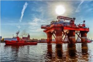 Oil Rig in port
